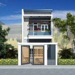 Bản thiết kế nhà ống 2 tầng 5x20m của anh Khôi tại Vĩnh Phúc