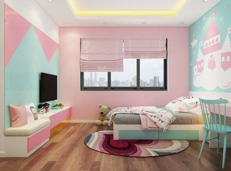 Thiết kế nhẹ với sự kết hợp của màu hồng và xanh dương