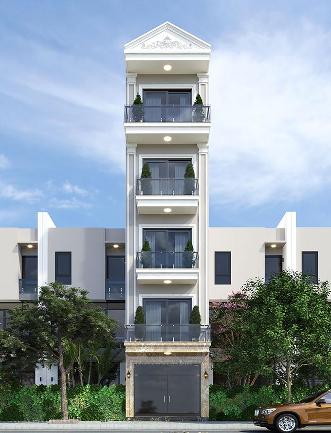 Tổng hợp 15+ mẫu nhà phố - nhà ống cách tân đẹp nhất năm 2021 - Mẫu 07