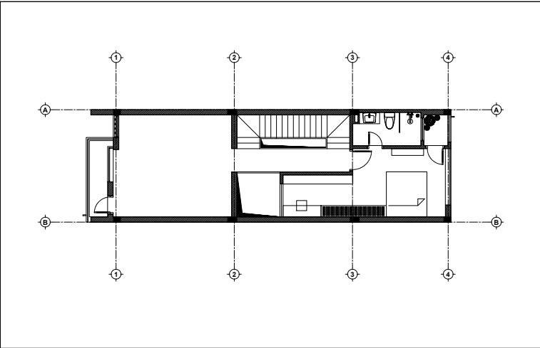 Tầng 3 mẫu nhà 3 tầng 1 tum