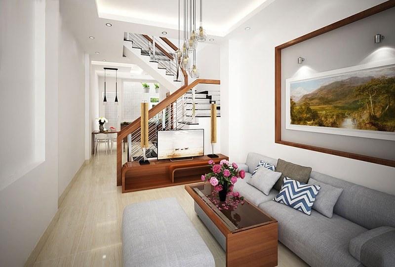 Mẫu nhà ống 3 tầng mặt tiền 3m với kiến trúc và nội thất hiện đại