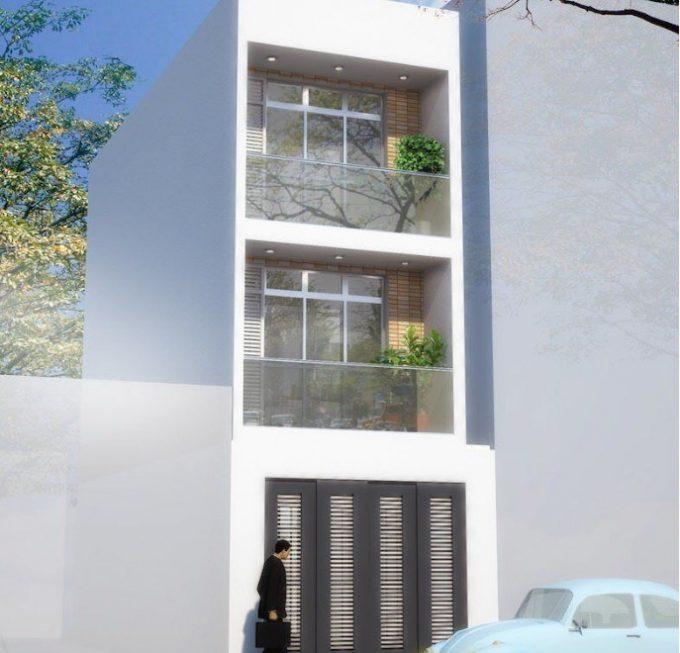 Mẫu thiết kế nhà ống 3 tầng phong cách hiện đại giá rẻ ở Hà Nội