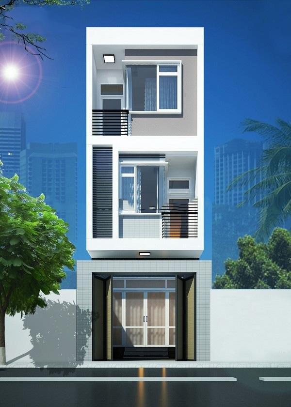 Phối cảnh thiết kế nhà ống 3 tầng đẹp quyến rũ ở Thái Bình