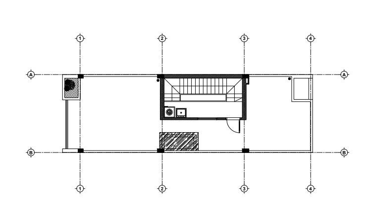 Tầng tum nhà ống 3 tầng mặt tiền 4m