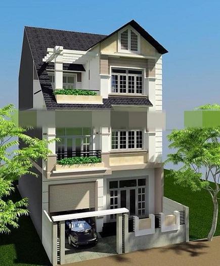 Mẫu 2 - mẫu thiết kế nhà 7x15m 3 tầng mái thái hiện đại