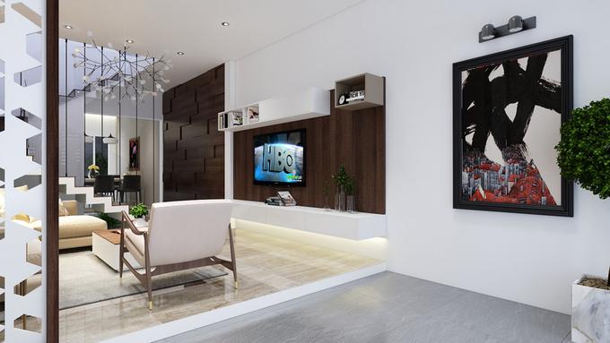Thiết kế kệ treo tivi giúp tiết kiệm diện tích xung quanh