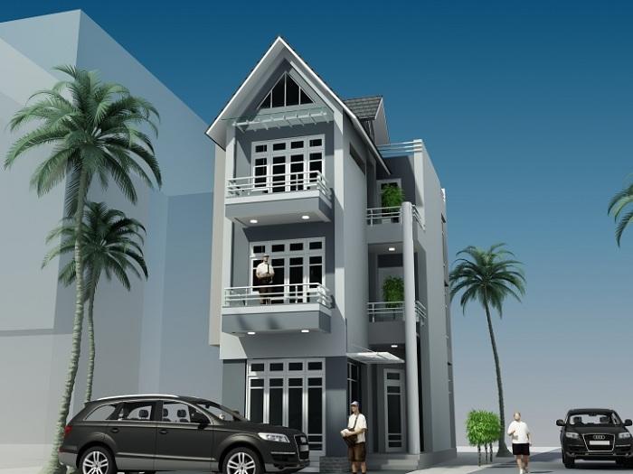 Mẫu 5 - mẫu thiết kế nhà 7x15m 3 tầng sang trọng và đẳng cấp