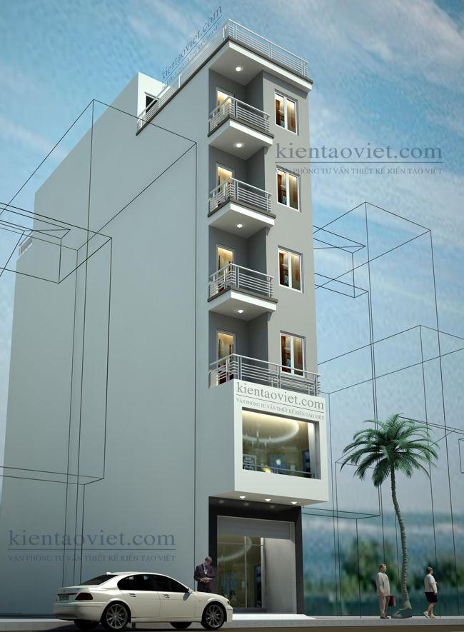 Mẫu nhà ống đẹp 6 tầng tại Hà Nội