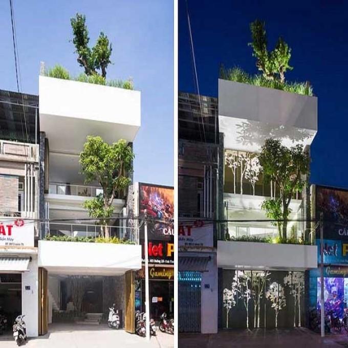 Mẫu nhà phố 3 tầng 4x16m - số 10