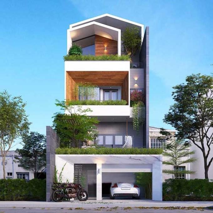 Mẫu nhà phố 3 tầng 4x16m - số 11