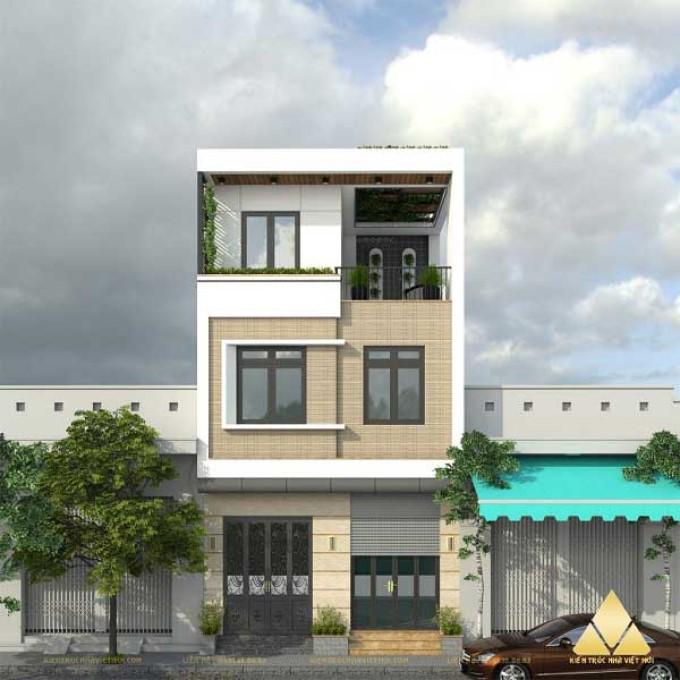 Mẫu nhà phố 3 tầng 4x16m - số 12