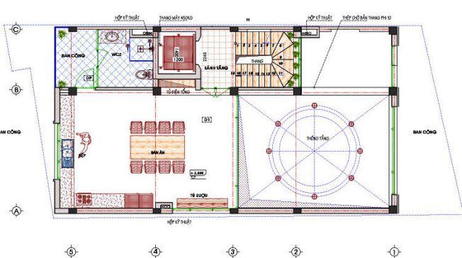 Thiết kế nhà ống 3 tầng đẹp