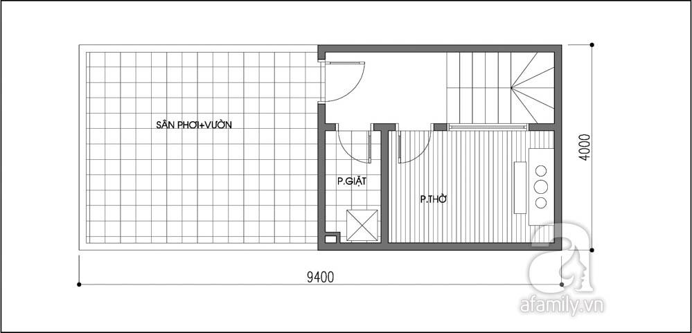 Mẫu thiết kế nhà ống đẹp 2 tầng 1 tum-3