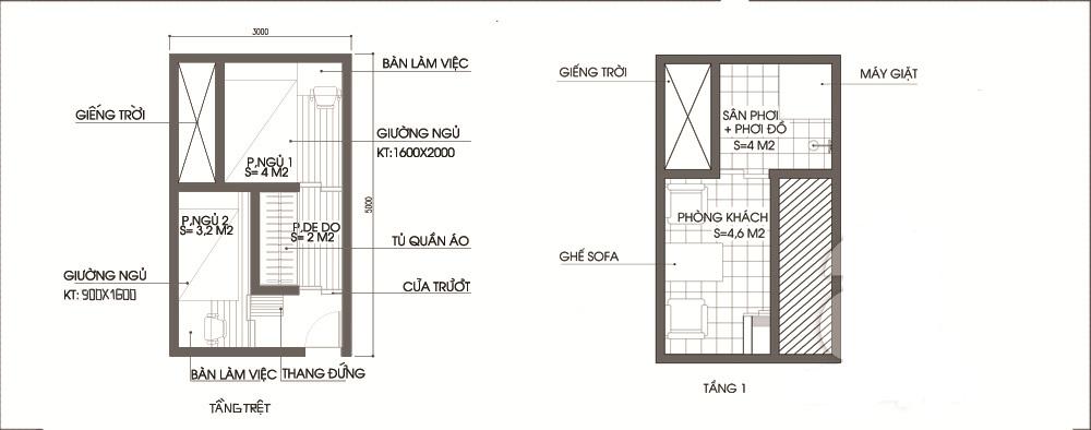 Không gian nhà ống 2 tầng đẹp tràn ngập ánh nắng - MB công năng