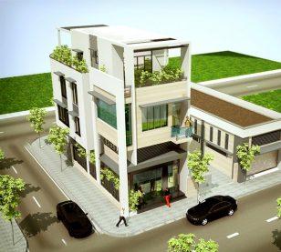 Thiết kế nhà ống 3 tầng kết hợp kinh doanh