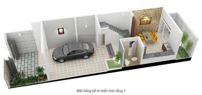Mặt bằng bố trí kiến trúc-nội thất tầng 1