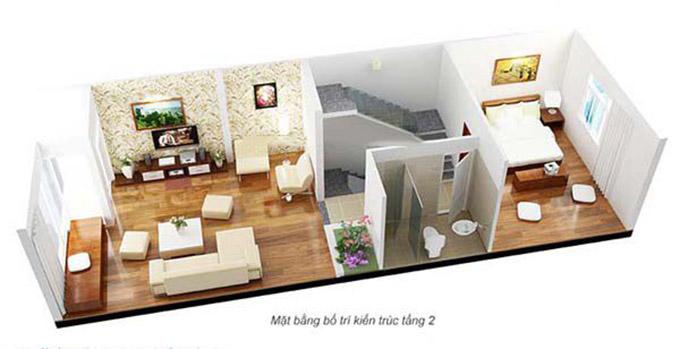 Mặt bằng bố trí kiến trúc-nội thất tầng 2