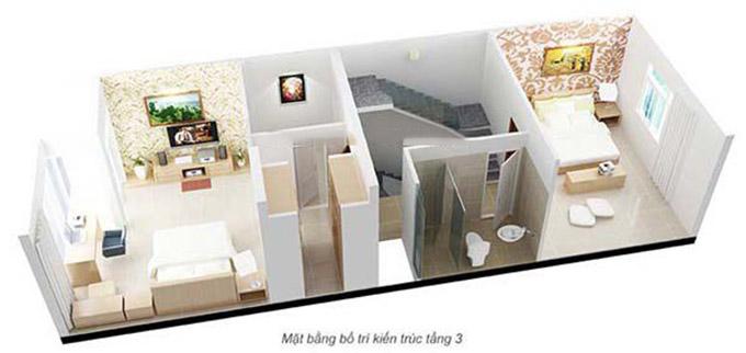 Mặt bằng bố trí kiến trúc-nội thất tầng 3