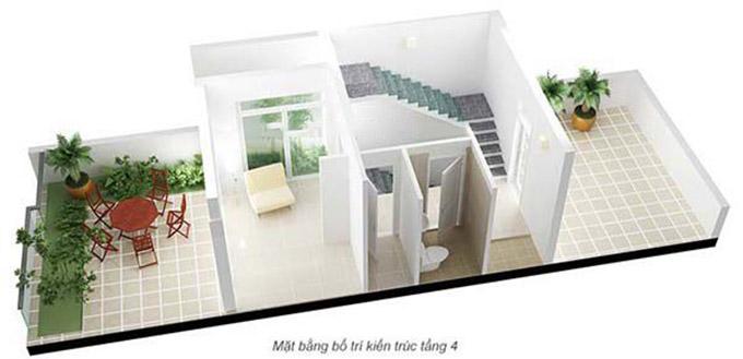 Mặt bằng bố trí kiến trúc-nội thất tầng 4