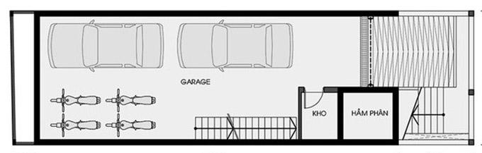 MB tầng hầm-thiết kế nhà ống 3 tầng có tầng hầm
