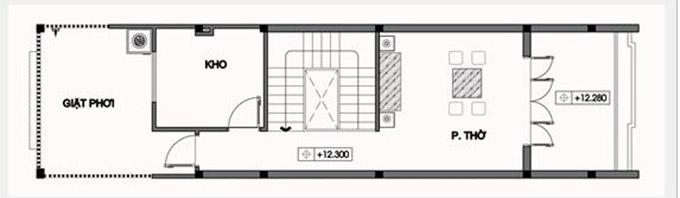 MB tầng tum-thiết kế nhà ống 3 tầng có tầng hầm