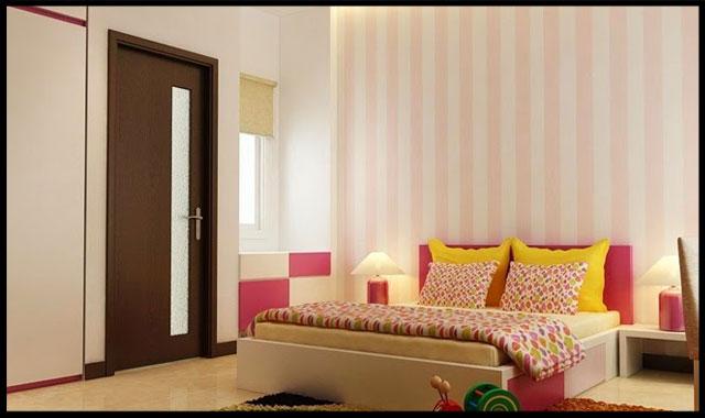 thiết kế nhà ống đẹp 2 tầng 4x15m Phòng ngủ dành cho con gái