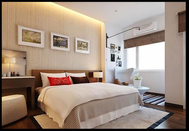 thiết kế nhà ống đẹp 2 tầng 4x15m Phòng ngủ khang trang