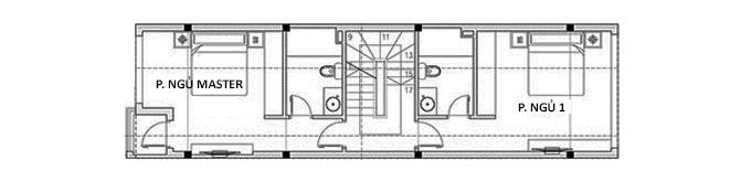 Tầng 2 - Thiết kế nhà ống 3 tầng hiện đại có gác lửng
