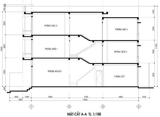 mẫu nhà ống 3 tầng đẹp