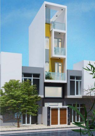 Mẫu nhà phố 5 tầng hiện đại và thông thoáng diện tích 63m2