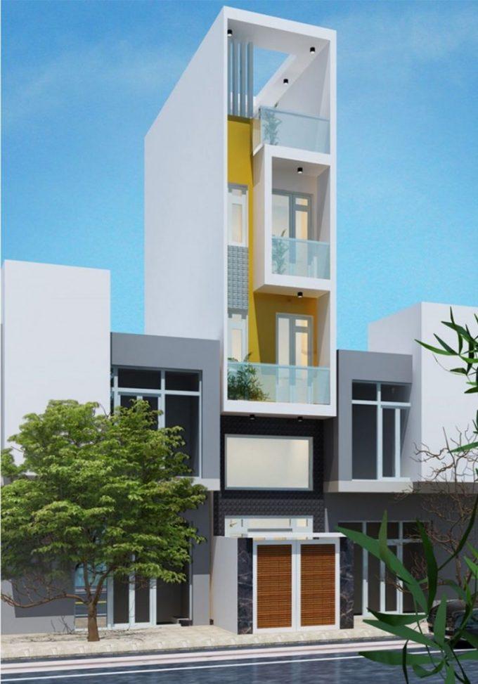 Mặt tiền mẫu nhà phố 5 tầng hiện đại diện tích 3.5x18m - 2