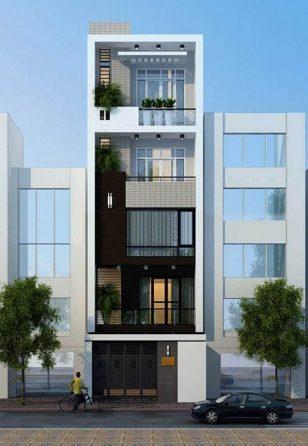 Thưởng thức vẻ đẹp của mẫu nhà ống 5 tầng đẹp hiện đại trong lòng phố