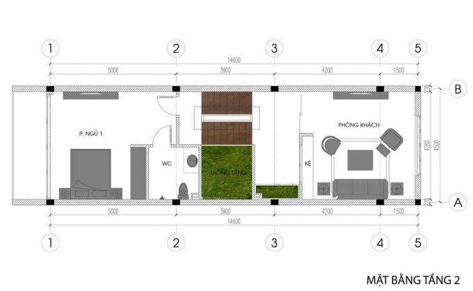 Mặt bằng mẫu nhà phố 5 tầng đẹp tiện nghi ở Hải Phòng - 2