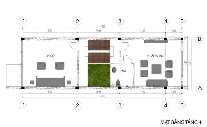 Mặt bằng mẫu nhà phố 5 tầng đẹp tiện nghi ở Hải Phòng - 4