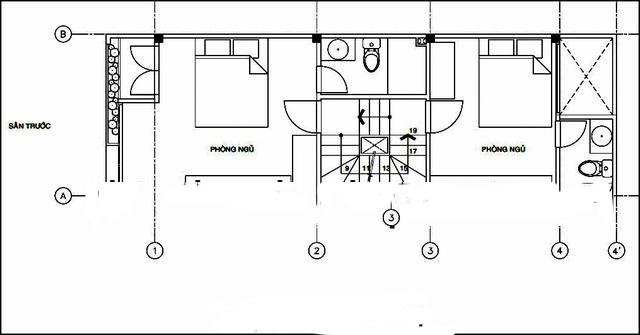 Mẫu nhà ống đẹp 3 tầng 4x15m hiện đại. 2