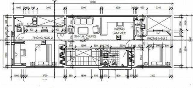 Mẫu nhà ống đẹp hiện đại 2 tầng 5x16m lạ mắt. 2