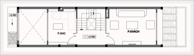 Mẫu nhà ống đẹp hiện đại 4 tầng 4x14m2. 2