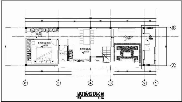 Mẫu thiết kế nhà ống 2 tầng hiện đại 5x17m.. 1