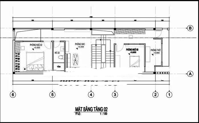 Mẫu thiết kế nhà ống 2 tầng hiện đại 5x17m.. 2