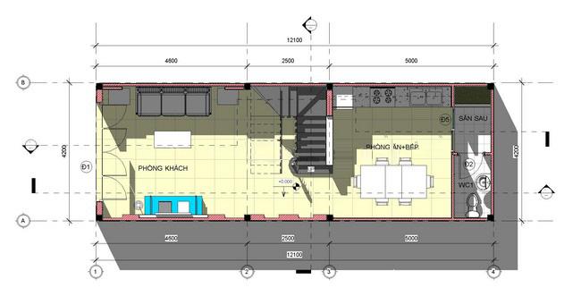 Mẫu thiết kế nhà ống 3 tầng hiện đại diện tích 4,2x12m 2