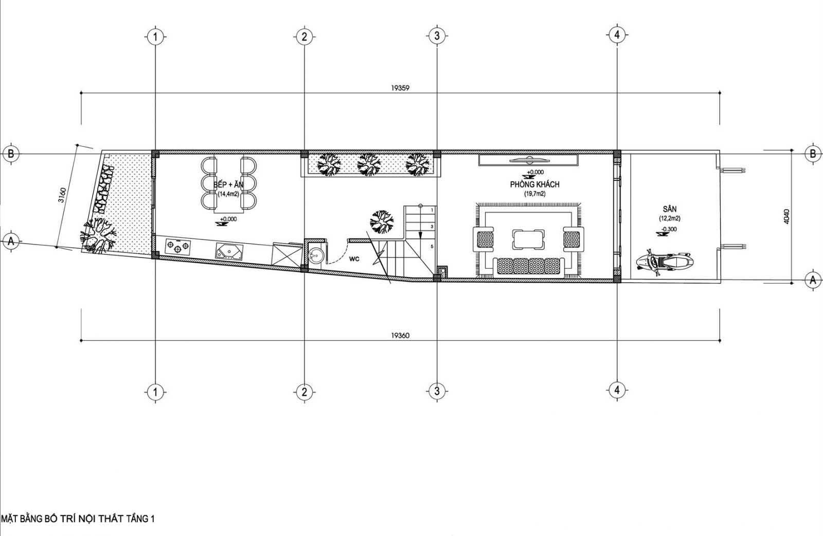 mẫu thiết kế nhà ống 3 tầng đẹp