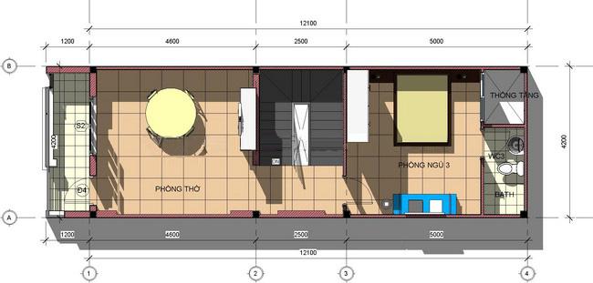 Mẫu thiết kế nhà ống 3 tầng hiện đại diện tích 4,2x12m 4