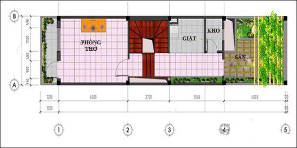 Mẫu thiết kế nhà ống 3 tầng hiện đại 52m2. 3