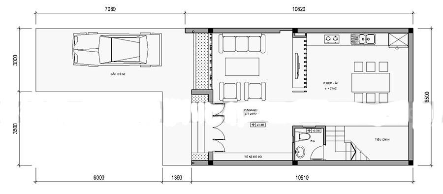 Mẫu thiết kế nhà ống 4 tầng ấn tượng. 1