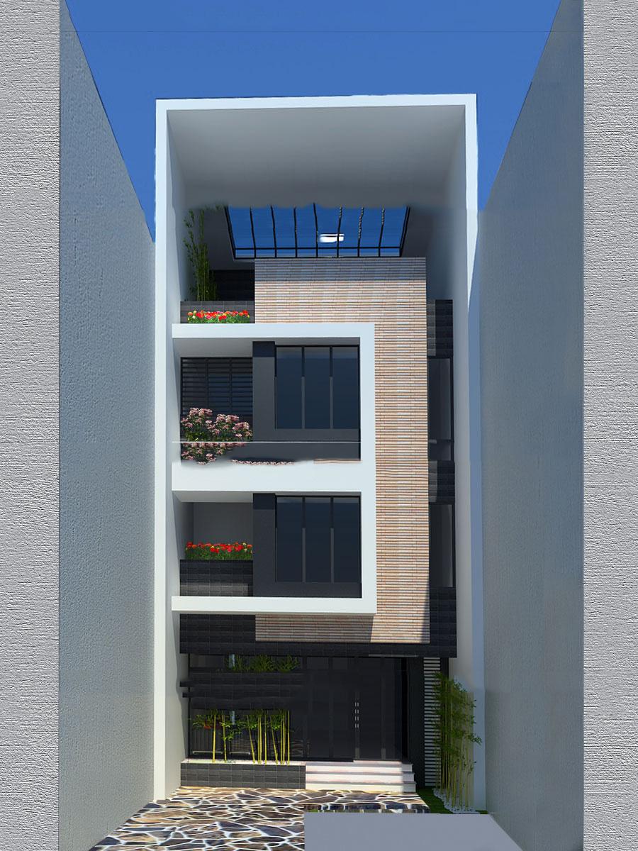 Mẫu thiết kế nhà ống 4 tầng ấn tượng