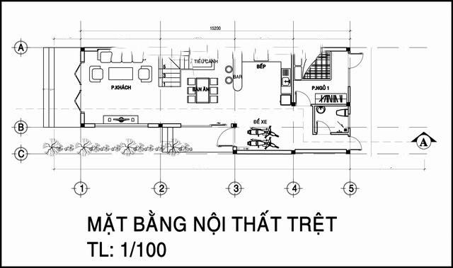Mẫu thiết kế nhà ống đẹp 2 tầng chữ L 6x17m. 1