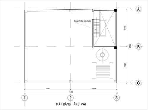 Mặt bằng công năng mẫu thiết kế nhà ống đẹp 2 tầng giá rẻ - 3