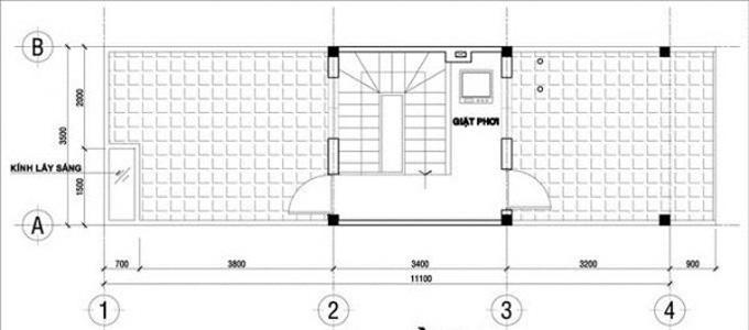 Mặt bằng công năng mẫu thiết kế nhà ống đẹp 2 tầng - 3