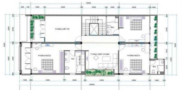 Mặt bằng công năng mẫu thiết kế nhà ống đẹp 2 tầng tân cổ điển- 2