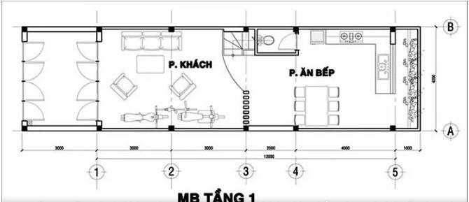 Mẫu thiết kế nhà ống đẹp 3 tầng hiện đại 76m2. 2